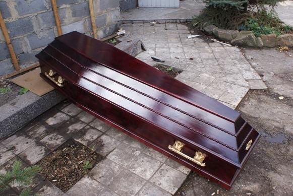 Смотрите еще. др. фурнитура. золото.  Гроб шестигранный с иконой на крышке гроба.